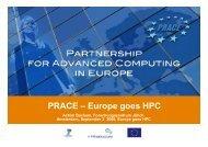 PRACE - Europe goes HPC