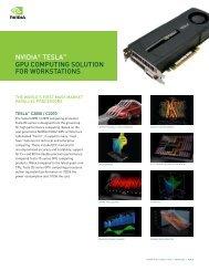 NVIDIA® TESLA™ GPU COMPUTING SOLUTION FOR - Scan.co.uk