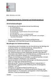 Aufgabenbeschreibung Sicherheitsbeauftragte - open | Schulportfolio