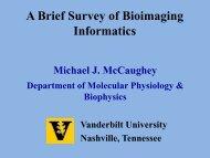 Microscopy and image analysis - Vanderbilt University