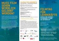 Filmtag für Lehrkräfte - SchulKinoWochen Hessen