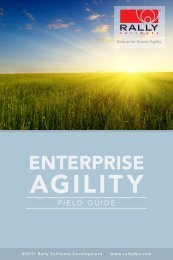 Enterprise Agility Field Guide - Rally Software