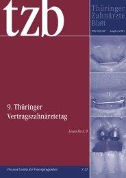 Thüringer Zahnärzteblatt 04/2011 - Zahnärzte in Thüringen
