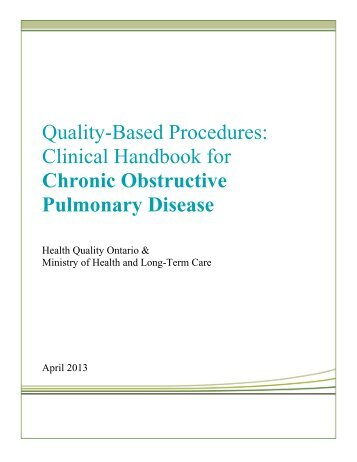 Clinical Handbook for Chronic Obstructive Pulmonary Disease