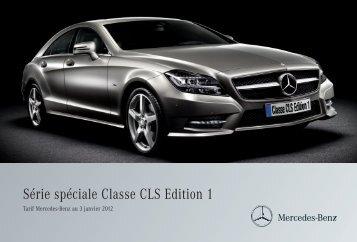 CLS - Edition 1_Tarifs - Mercedes-Benz France