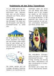 Projektwoche mit dem Zirkus Tausendtraum - Eichendorffschule