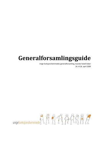 Generalforsamlingsguide - Unge Funksjonshemmede