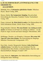6. zu elternschaft, entwicklung und erziehung allgemein - August ...