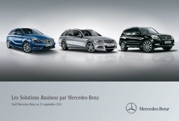 Les Solutions Business par Mercedes-Benz - Mercedes-Benz France