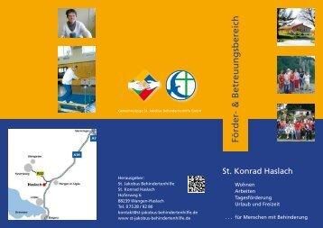 Förder- & Betreuungsbereich - St. Jakobus Behindertenhilfe