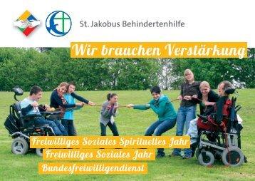Wir brauchen Verstärkung - St. Jakobus Behindertenhilfe