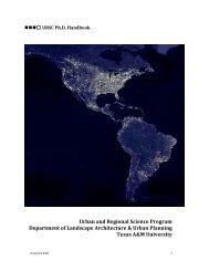 URSC Handbook 1-1-1 - Landscape Architecture and Urban Planning