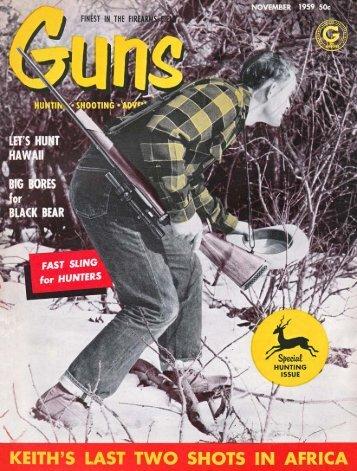 GUNS Magazine November 1959