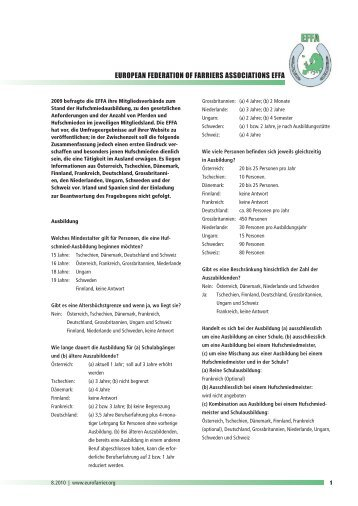 EUROPEAN FEDERATION OF FARRIERS ASSOCIATIONS EFFA
