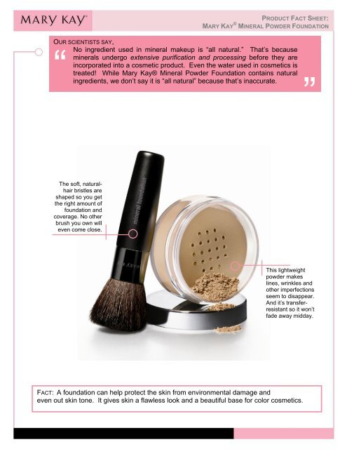 No Ing In Mineral Makeup Is