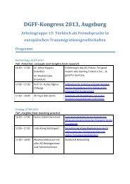 Arbeitsgruppe 13 - DGFF