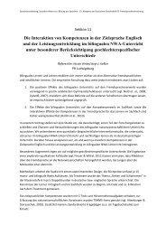 Die Interaktion von Kompetenzen in der Zielsprache Englisch und ...
