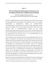 Die Entwicklung literaturbezogener Kompetenzen im ...