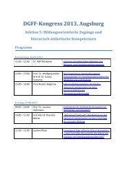 Sektion 5 - Deutsche Gesellschaft für Fremdsprachenforschung