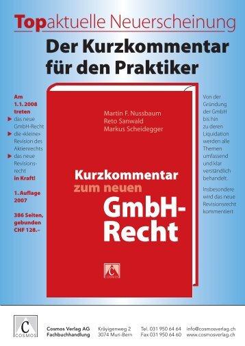 Kurzkommentar zum neuen GmbH-Recht - Notariat NUSSBAUM