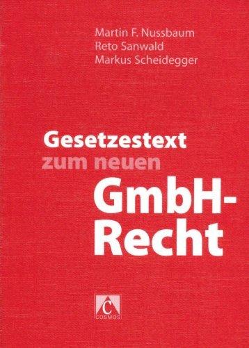 GmbH-Recht - Notariat NUSSBAUM