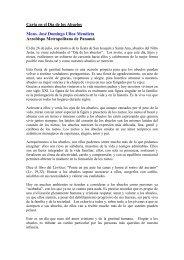 arzobispo metropolitano de panamá - Mensajeros de la Paz