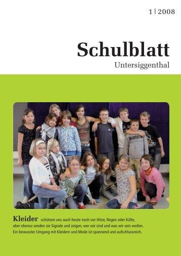 Schulblatt - Schule Untersiggenthal