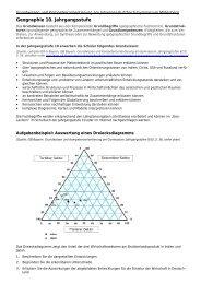 Grundwissen- und Kompetenzorientierung 10. Jahrgangsstufe