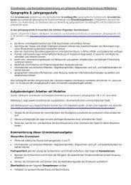 Grundwissen- und Kompetenzorientierung 8. Jahrgangsstufe