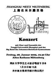 Konzert - Johannes-Butzbach-Gymnasium Miltenberg