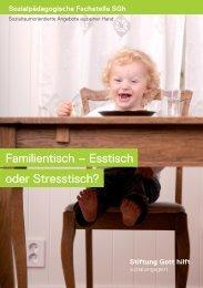 Familientisch – Esstisch oder Stresstisch? - Stiftung Gott hilft