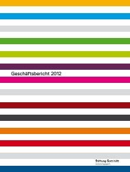 Geschäftsbericht 2012 - Stiftung Gott hilft