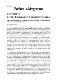 Personalnot: Berlins Finanzämtern droht der Kollaps - Vau-online.de