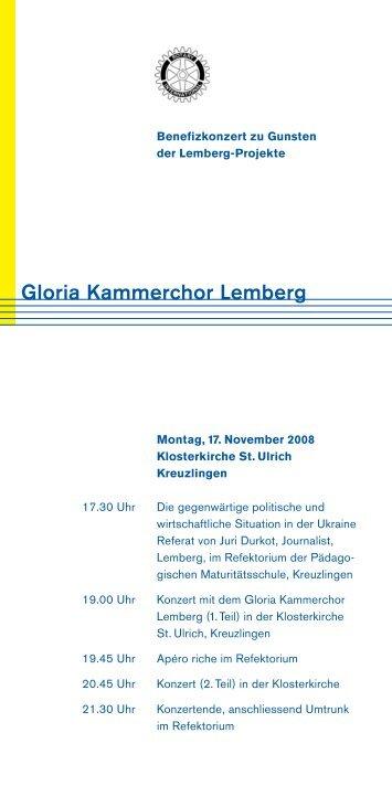 Gloria Kammerchor Lemberg - Rotary Club Weinfelden