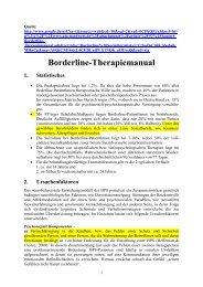 Borderline Therapiemanual