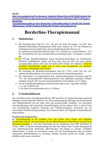 Borderline Therapiemanual