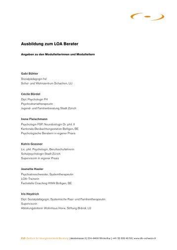 Anmeldung ausbildung futter berater pferd sintakt for Ausbildung innenarchitektur schweiz