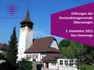 Stiftungen - Kirchenkreis Oberwangen