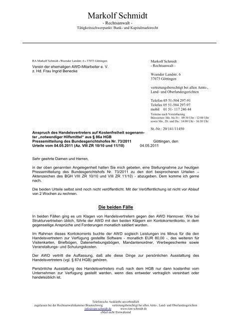 Markolf Schmidt Verein Der Ehemaligen Awd Mitarbeiter Ev