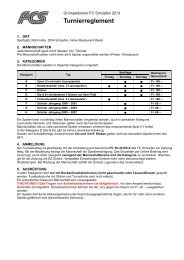 Turnierreglement (pdf) - Grümpelturnier 2013 - FC Schüpfen
