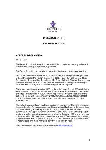 hr director job description pdf