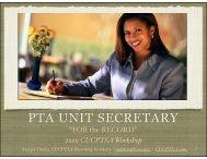 Secretary Packet - Capistrano Unified Council PTSA