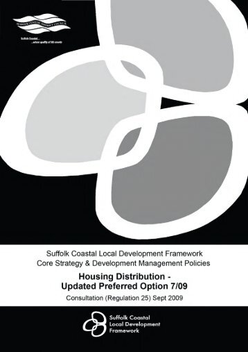 Updated Preferred Option 7/09 - Suffolk Coastal District Council