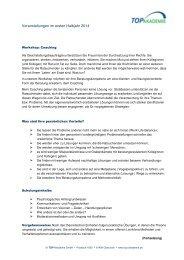 Veranstaltungen im ersten Halbjahr 2014 - TOP Akademie
