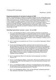 Til Nasdaq OMX Copenhagen Regnskabsmeddelelse for ... - Affitech