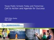 Texas Public Schools Today and Tomorrow - Texas Association of ...