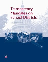 Transparency Mandates on School Districts - Texas Association of ...