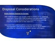 Is the patented design of a Des-Case desiccant ... - JCB Conseils