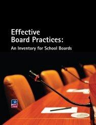 Effective Board Practices - Texas Association of School Boards