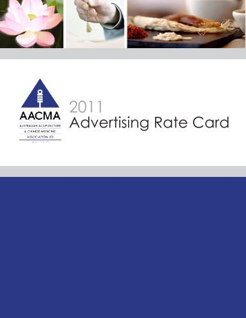 Advertising Rate Card - Australian Acupuncture & Chinese Medicine ...